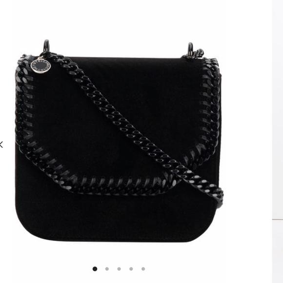 6fd1228658 Stella McCartney Bags | Velvet Black Falabella Box Large Shoulder ...